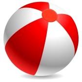 14968916-rouge-et-blanc-ballon-de-plage-isolee-sur-fond-blanc